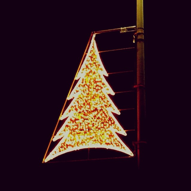 Carrefour Xmas lights - from Instagram