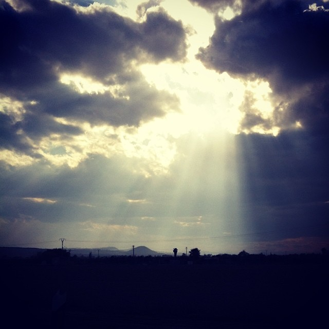 Sun through the clouds - from Instagram