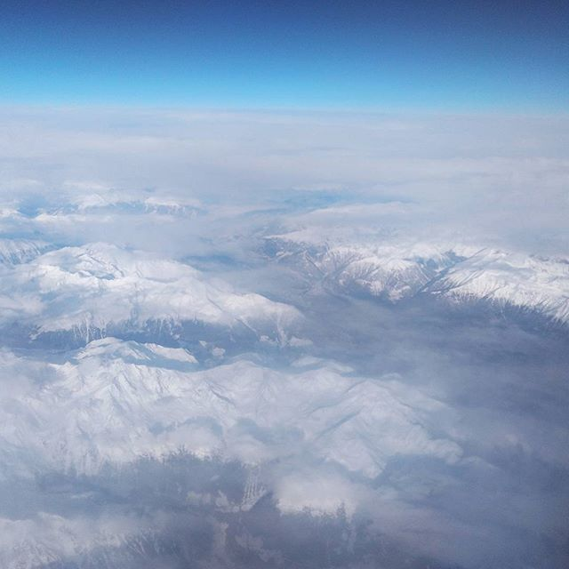 Flying over Switzerland this morning - from Instagram