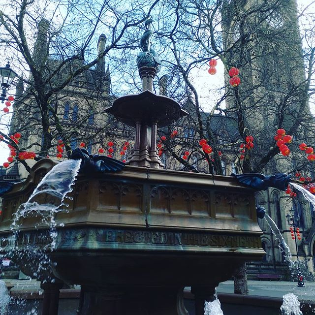 #chinese #lantern #autohash #Manchester #UnitedKingdom #England #winter #snow #tree #building #travel #traveling #visiting #instatravel #instago #city #outdoors #landscape #architecture #house #old #cold #street #weather #fountain - from Instagram