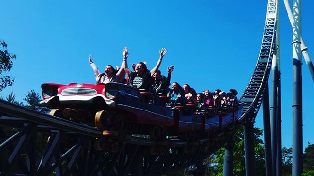 #autohash #UnitedKingdom #England #people #group #outdoors #sky #festival #vehicle #travel #traveling #visiting #instatravel #instago #action #fun #competition #landscape #park #exhilaration #summer #leisure #ThorpePark #Stealth - from Instagram