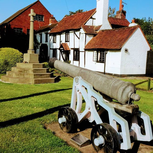 Cannon Cottage #autohash  #UnitedKingdom #Chobham  #England #cannon #architecture #old #building #house #military #outdoors #war #traditional #grass #travel #traveling #visiting #instatravel #instago #summer #antique #rural #museum #historic #vintage #exterior #sky - from Instagram