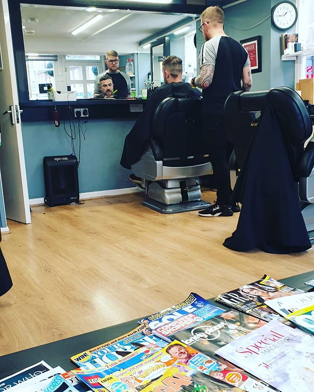 Haircut time #autohash #UnitedKingdom #England #people #stock #room #exhibition #luggage #furniture #education #school #shopping #desk #business #commerce #group #city #wear #service #barbershop - from Instagram
