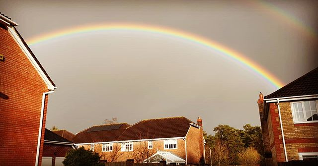 #autohash #UnitedKingdom #England #rainbow #weather #sky #storm #rain #outdoors #landscape #travel #traveling #visiting #instatravel #instago #scenic #light #panoramic #building #evening #daylight #sunset #water #rural #tree - from Instagram