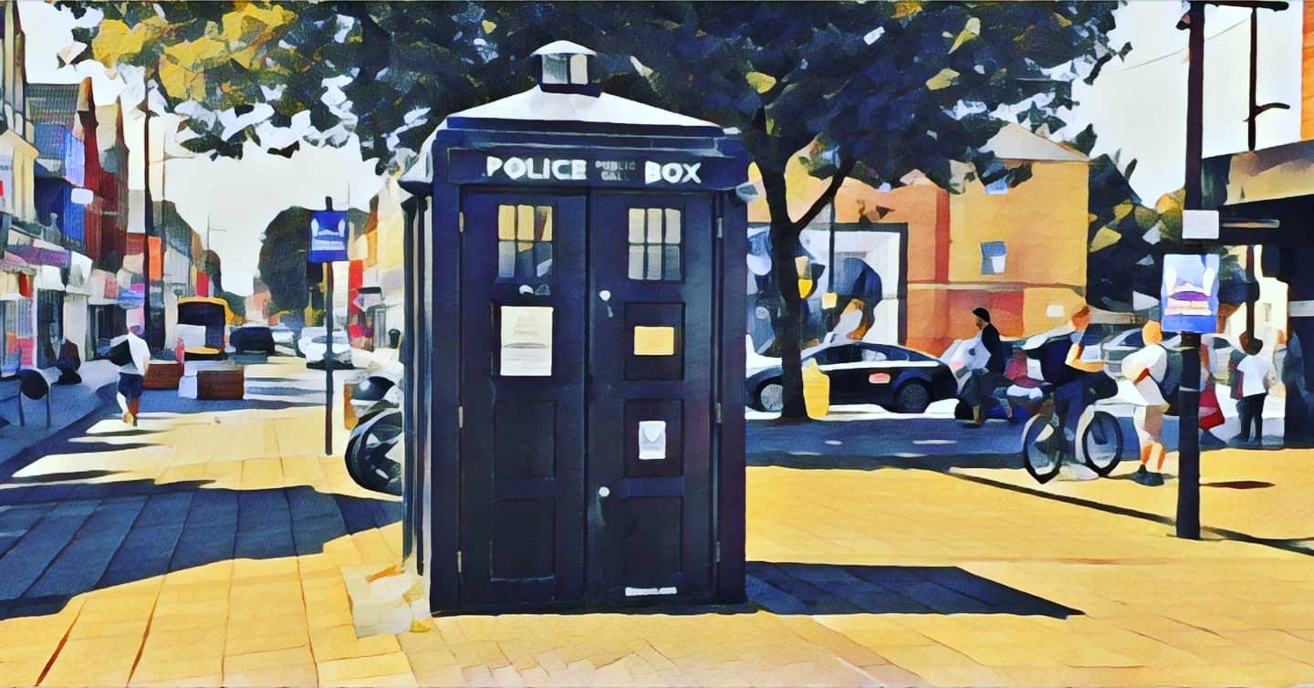 #autohash #boscombe #doctorwho #tardis #street #city #wheel #outdoors #town #stationary #people #architecture #pavement #door #travel #traveling #visiting #instatravel #instago #tourism #road #urban #house #building #tourist - from Instagram